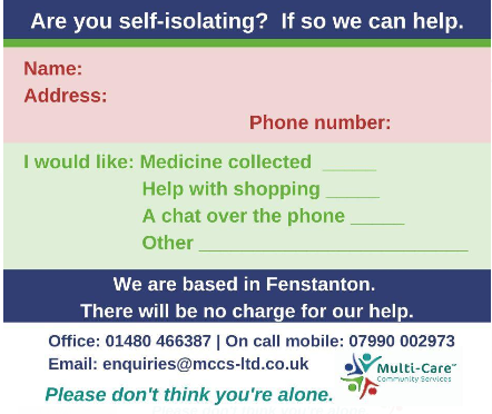 Are you self-isolating? If so we are ready to help you.